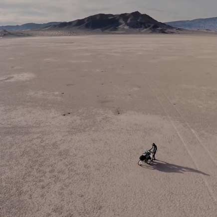 Aaron Baker in the desert