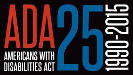 Logo for the ADA's 25th anniversary.
