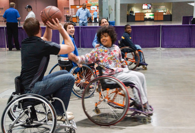 Basketball at the Abilities Expo