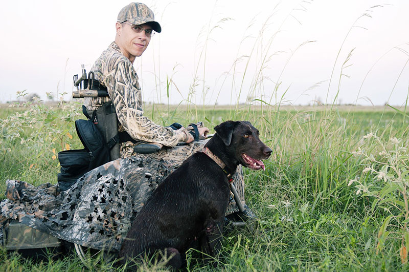 Chad Hunting with his Dog