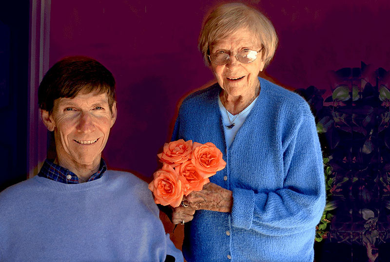Bob Yant, founder of Cure Medical with flowers