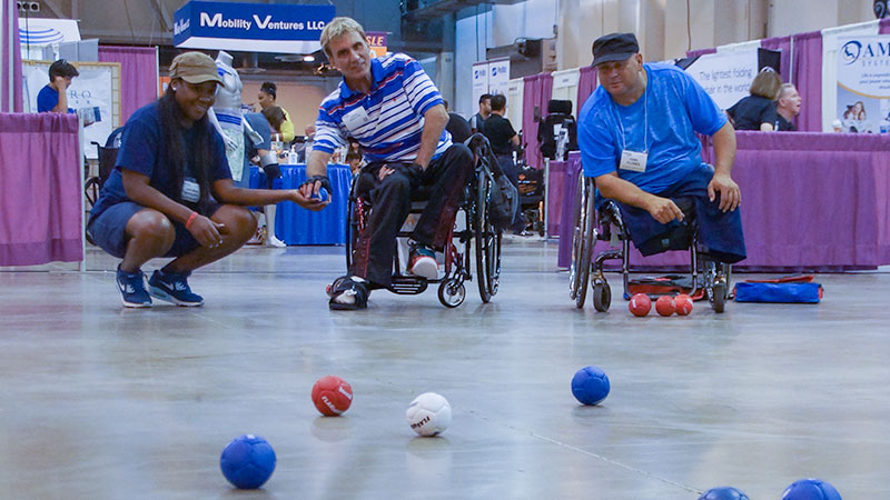 Adaptive Boccia Demonstration