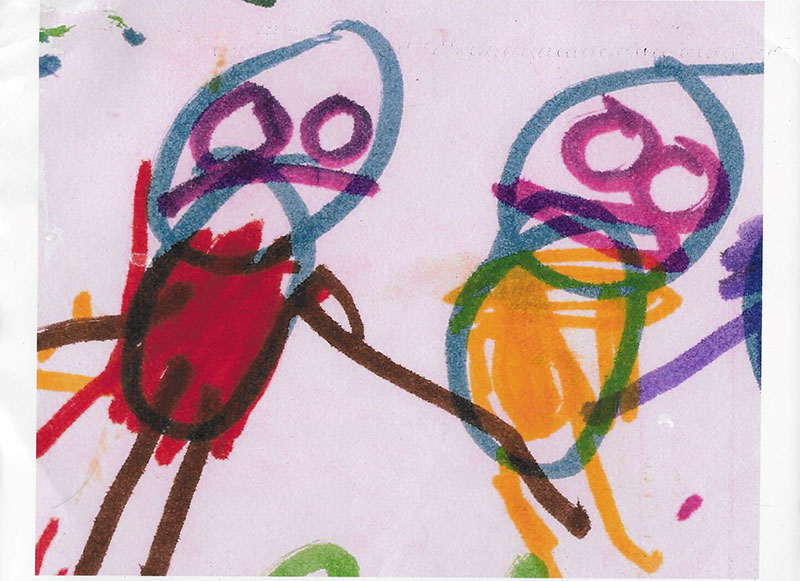Children with OCD: Photo of Child's Drawing