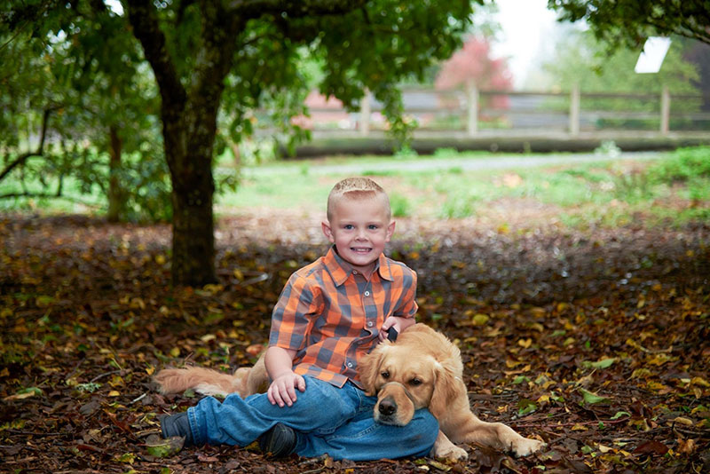 Boy and his service dog