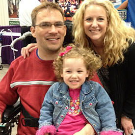 Family at Abilities Expo, Smiling