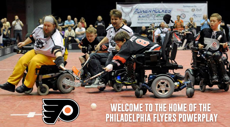 Power Wheelchair Floor Hockey