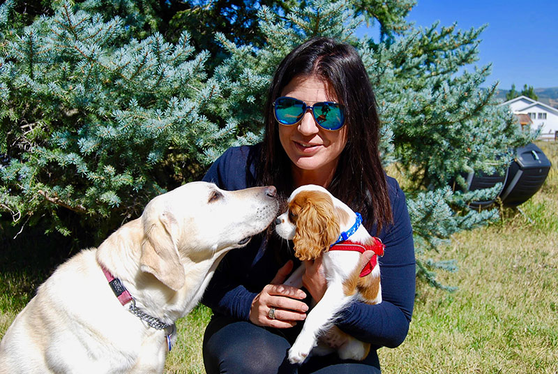 Danelle Umstead with her dogs