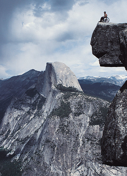 Half Dome by Wheelchair
