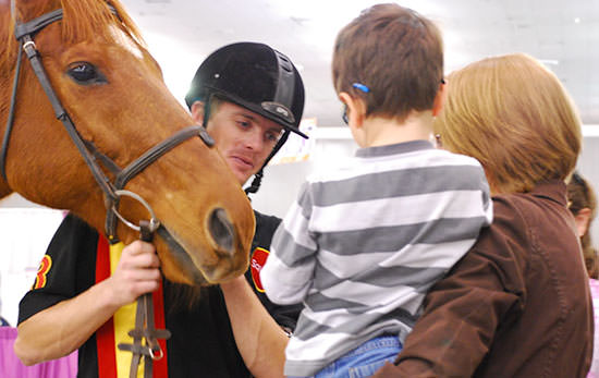 Horse and Child at Abilities Expo