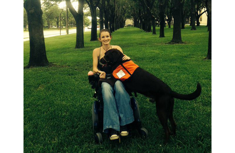 Katie and her assistance dog, Cowboy