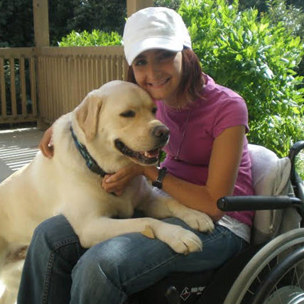 Natalie with her service dog Gabe