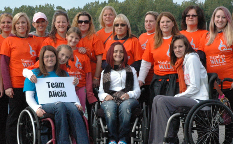 Natalie's friends and family joined together for Natalie's Walk in 2012.