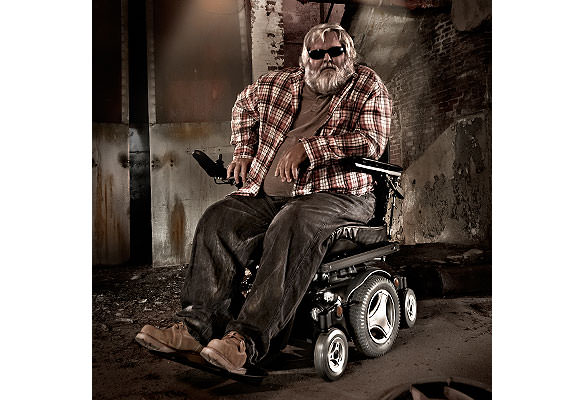 Heavy Metal Musician in Permobil Wheelchair