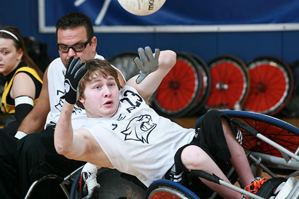 Power Soccer Adaptive Sports Action Shot