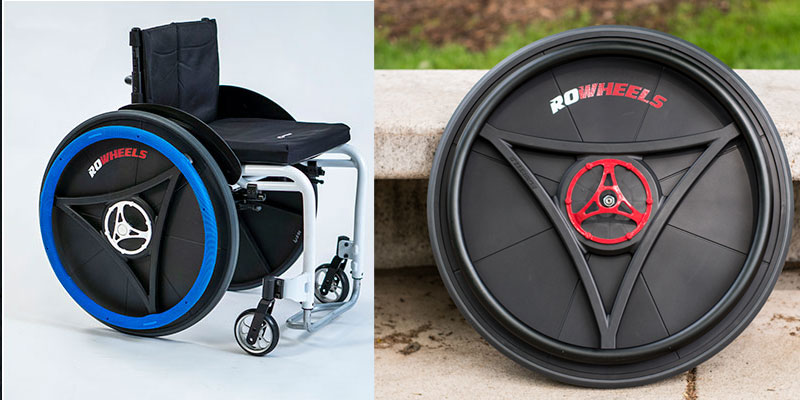 ROWHEELS RowLite wheelchair and Quick Release wheelset.