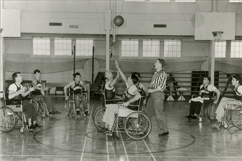 The Rolling Devils Wheelchair Basketball Team