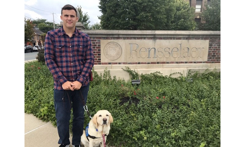 Service dog and student at University