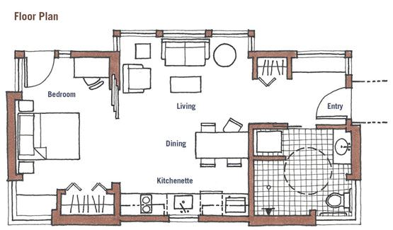 Small space accessibility small accessible homes for Accessible house plans