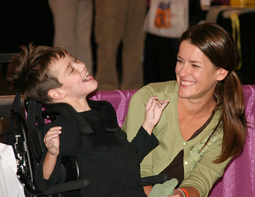 Special Needs Child with Mother