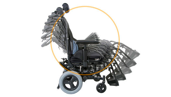 Sunrise Medical Wheelchair rotating for storage