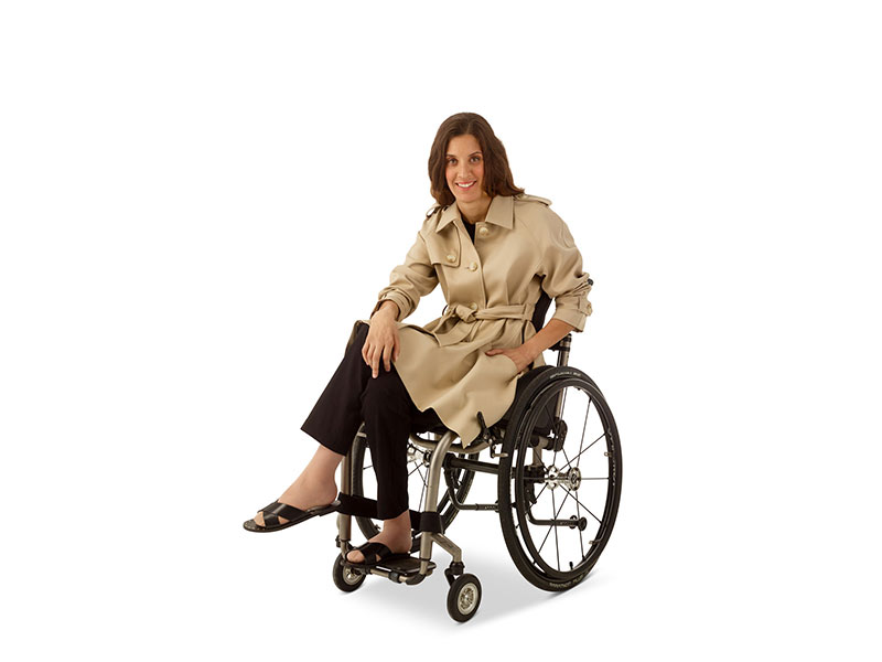 Trench Coat Model in Wheelchair