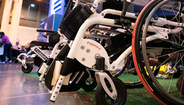 A line of cutting-edge manual wheelchairs are on display at Abilities Expo.